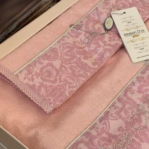 Набор бамбуковых полотенец Maison Dor ROSE MARINE PINK (3)